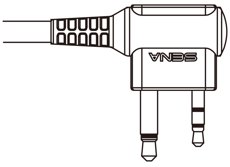 Sena Sr10 2 Way Radio Cable For Midland Twin Pin 2 Pin Conne