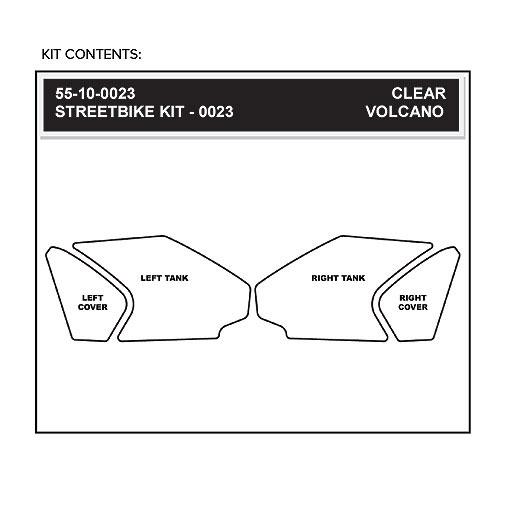 Clear STOMP GRIP Traction Pad Tank Kit HONDA CBR1000RR 2012-2014
