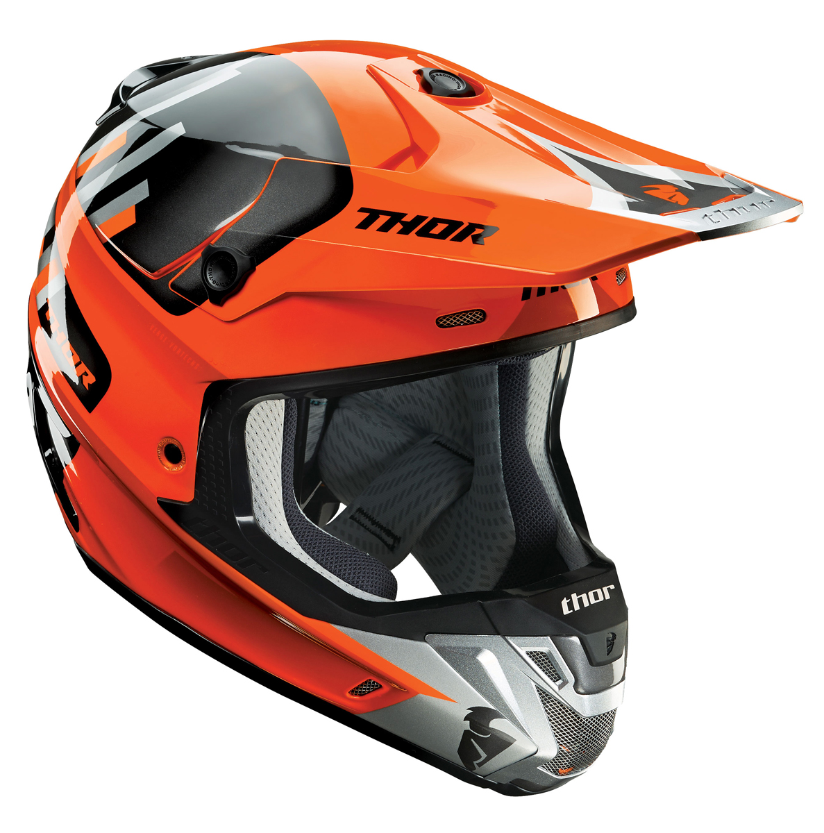 thor mx motocross 2017 verge helmet vortechs flo orange. Black Bedroom Furniture Sets. Home Design Ideas