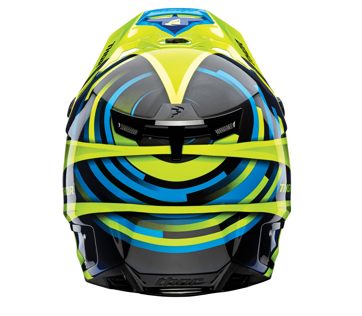 THOR MX Motocross 2017 VERGE Helmet (VORTECHS Flo Green/Navy) Choose ...