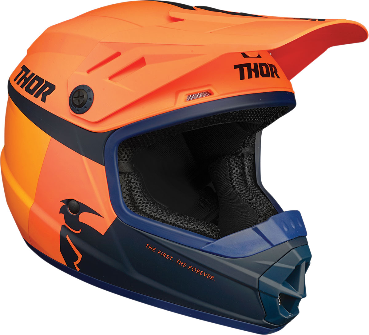 Thor 2021 Youth Sector Racer Helmet (Orange/Midnight)