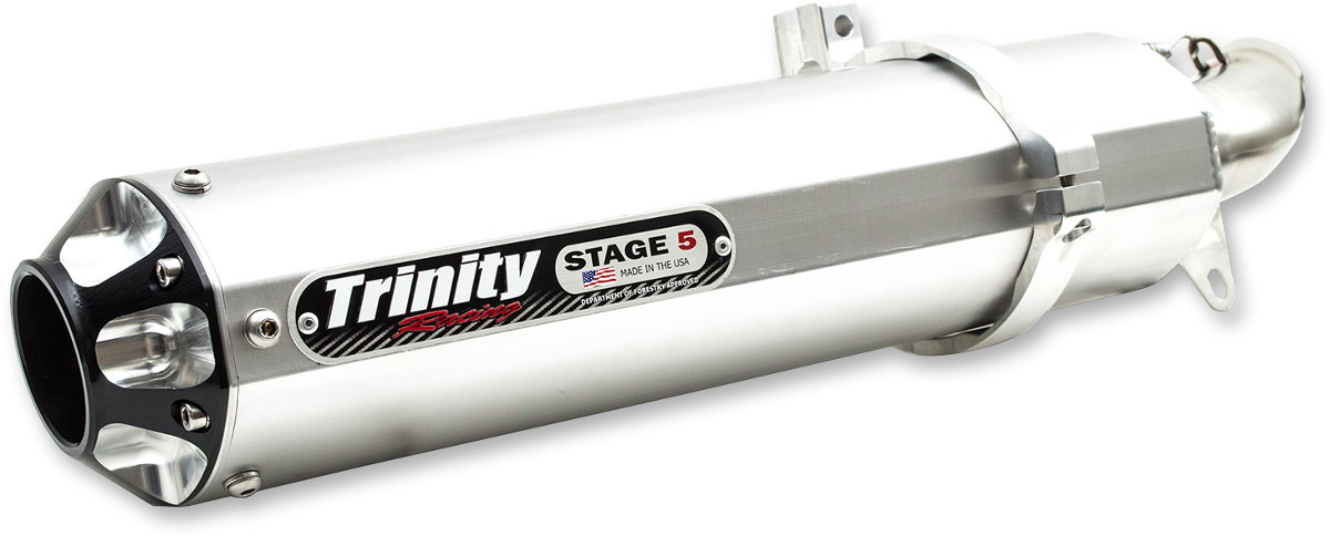 Trinity Racing STAGE 5 Slip-On Exhaust Muffler (Alum) Honda TRX450R  (2006-2015) TR-4108S