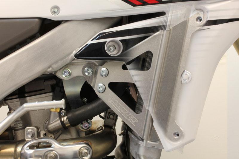 Works Connection Aluminum Radiator Braces 2014 - 2016 Yamaha YZ450F  (Silver) 18-267