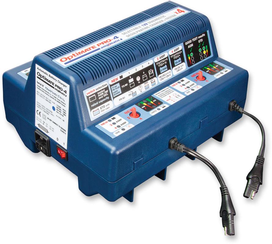 Tecmate Optimate Pro 4 Professional 4 Bank 12v Battery Charger Ts 53