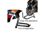 PSR Triple Tree Or Fork Lift Front Motorcycle Stand (Black) 00-00102-02