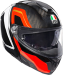 AGV Sport Modular Carbon SHARP Flip-Up Helmet w/ Sun Visor (Black/Red/White)