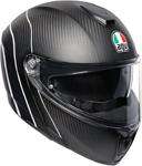 AGV Sport Modular Carbon REFRACTIVE Flip-Up Helmet w/ Sun Visor (Carbon/Reflective Stripe)