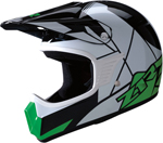 Z1R Kids RISE Off-Road Motorcycle Helmet (Green)