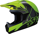 Z1R Kids RISE Off-Road Motorcycle Helmet (Hi-Viz Yellow/Green)