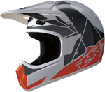 Z1R Kids RISE Off-Road Motorcycle Helmet (Orange/Blue)