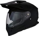 Z1R RANGE Dual-Sport Adventure Helmet w/ Drop-Down Sun Visor (Flat Black)