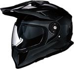 Z1R RANGE Dual-Sport Adventure Helmet w/ Drop-Down Sun Visor (Gloss Black)