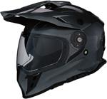 Z1R RANGE Dual-Sport Adventure Helmet w/ Drop-Down Sun Visor (Dark Silver)