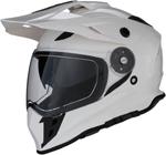 Z1R RANGE Dual-Sport Adventure Helmet w/ Drop-Down Sun Visor (White)