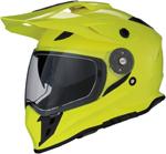 Z1R RANGE Dual-Sport Adventure Helmet w/ Drop-Down Sun Visor (Hi-Viz Yellow)