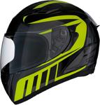 Z1R Strike OPS ATTACK Full-Face Motorcycle Helmet (Black/Hi-Viz Yellow)
