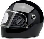 Biltwell Inc Gringo S DOT/ECE Retro Full-Face Helmet (Gloss Black)