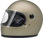 Biltwell Inc Gringo S DOT/ECE Retro Full-Face Helmet (Flat Titanium)