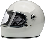 Biltwell Inc Gringo S DOT/ECE Retro Full-Face Helmet (Gloss White)
