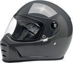 Biltwell Inc Lane Splitter Retro-Style Motorcycle Helmet (Gloss Storm Grey)