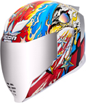 Icon AirFlite FREEDOM SPITTER Full-Face Helmet w/ Dropdown Sun Visor (Glory)