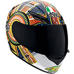 AGV K-3 Dreamtime Rossi Replica Helmet (Multi Color)