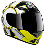 AGV K-3 Gothic Rossi Replica Helmet (Black/Yellow)