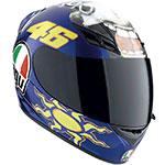 AGV K-3 Valentino Rossi Donkey Replica Helmet (Blue)