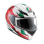 AGV K-3 Italy Flag Full-Face Helmet (White/Red/Green)