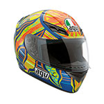 AGV K-3 5-Continents Rossi Replica Helmet (Multi-Color)