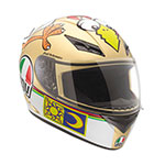 AGV K-3 The Chicken Rossi Replica Helmet (Gold/White)