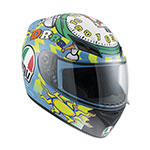 AGV K-3 Wake Up Rossi Replica Helmet (Blue/Yellow)