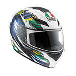 AGV K-3 Brazil Flag Full-Face Helmet (White/Blue)