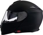 Z1R SOLARIS Modular Motorcycle Helmet w/ Drop-Down Sun Visor (Flat Black)