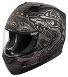 ICON MotoSports Alliance ORO BOROS Full-Face Motorcycle Helmet (Black)