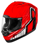 ICON MotoSports Alliance OVERLORD Full-Face Motorcycle Helmet (Red)