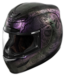 ICON MotoSports Airmada CHANTILLY OPAL Full-Face Motorcycle Helmet (Purple)