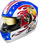 Icon MotoSports Glory DC18 Alliance GT Helmet (Blue/Red/White)