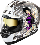 Icon MotoSports DL18 Alliance GT Helmet (Silver)