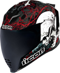 Icon MotoSports Skull 18 AirFlite Helmet (Black)