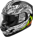 Icon Motosports Alliance GT BIRD STRIKE Full-Face Helmet (White)