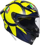 AGV Pista GP R Carbon SOLELUNA 2018 Helmet (Matte Navy/Yellow)
