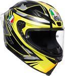AGV Corsa R MIR WINTER TEST 2018 Replica Helmet (Black/Silver/Yellow)
