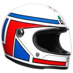 AGV Legends X3000 Lucky Helmet (White/Red/Blue)