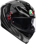 AGV K5 S Hurricane 2.0 Sport Helmet w/ Sun Visor (Black/Silver)
