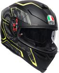 AGV K5 S Tornado Sport Helmet w/ Sun Visor (Black/Fluo Yellow)