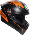 AGV K1 WARMUP Sport Helmet (Matte Black/Orange)