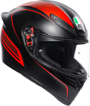 AGV K1 WARMUP Sport Helmet (Matte Black/Red)