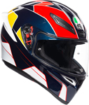 AGV K1 PITLANE Sport Helmet (Blue/Red/Yellow)