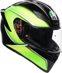 AGV K1 QUALIFY Sport Helmet (Black/Lime)
